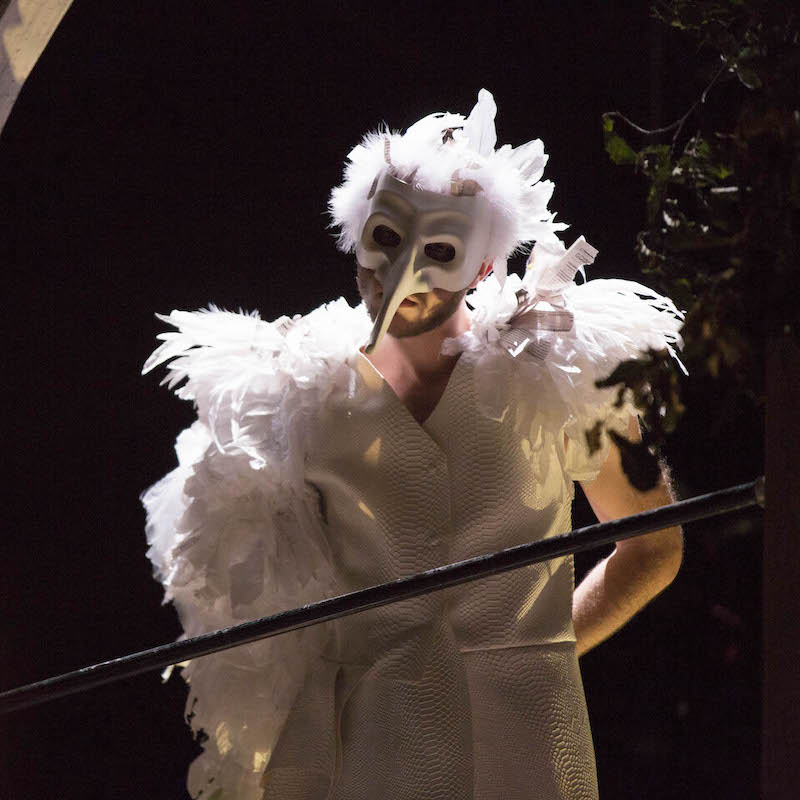 Marvin Merritt IV as The White Bird in THE OWL ANSWERS at Harvard College